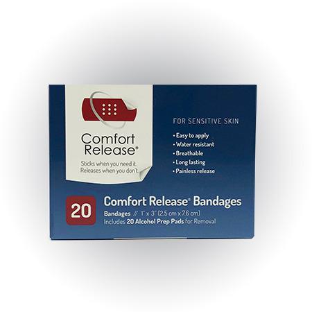 "1"" Comfort Release Bandages"