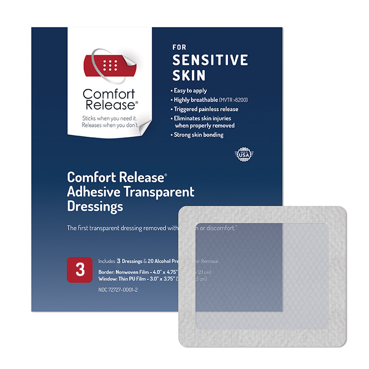 Comfort Release Adhesive Transparent Dressings