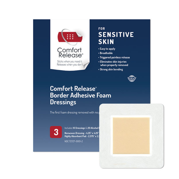 Comfort Release Border Adhesive Foam Dressings